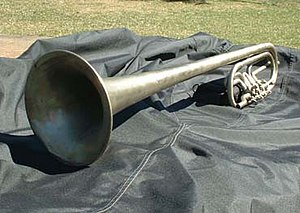 Stonewall Brigade Band - Alto saxhorn used in the band's antebellum performances.