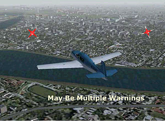 Washington, DC Metropolitan Area Special Flight Rules Area - This is a graphic to show what the NORAD Laser Warning System would look like.