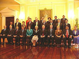 Fifth Labour Government of New Zealand - The Cabinet of the Fifth Labour Government in 2005, with the Governor General seated at centre.