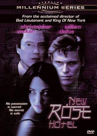 New Rose Hotel (film) - DVD cover for New Rose Hotel