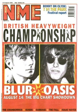 NME - Blur vs Oasis, August 1995. NME started 1990 in the thick of the Madchester scene, covering the new British indie bands and shoegazers.