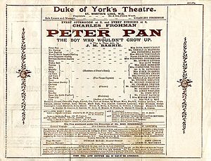 1904 in literature - Playbill for opening run in London