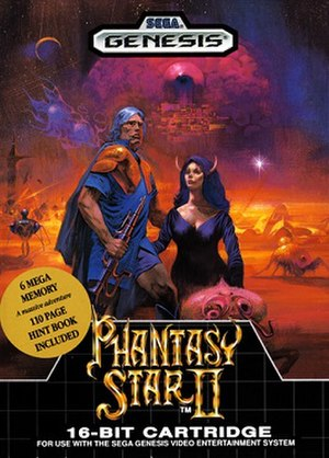 Phantasy Star II - North American cover art