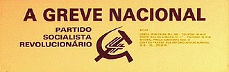 Revolutionary Socialist Party (Portugal) - Image: Psrgreve