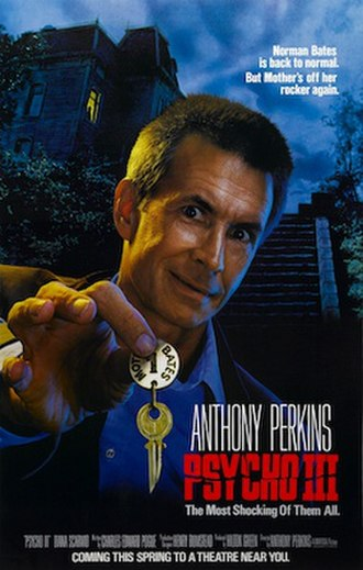 Psycho III - Theatrical release poster