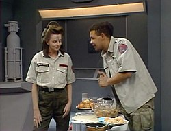 Red Dwarf Lister And Cat Flipping Gif