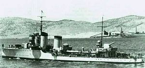Operation Abstention - Italian destroyer Crispi