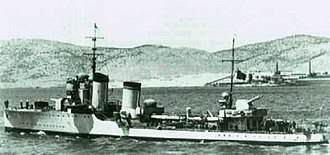 Operation Abstention - Italian destroyer Crispi