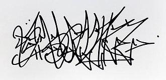 "Rammellzee - Characteristic ""wildstyle"" Rammellzee signature tag"