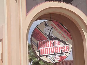 Rock the Universe - Main sign for the 2010 event.