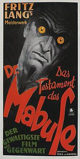 <i>The Testament of Dr. Mabuse</i> 1933 film by Fritz Lang