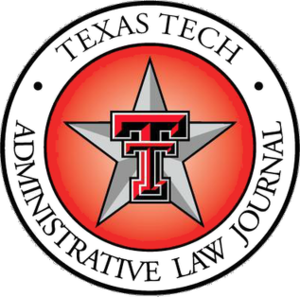 Texas Tech Administrative Law Journal - Texas Tech Administrative Law Journal logo