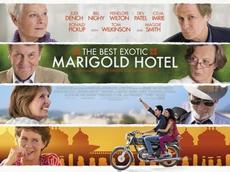 The Best Exotic Marigold Hotel - British theatrical release poster