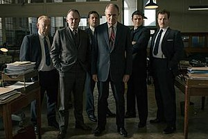 """The Great Train Robbery (2013 film) - The cast of """"A Copper's Tale"""""""