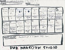 "The original recording chart for ""I Want Wind To Blow"" displaying the individual channels."