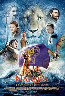 <i>The Chronicles of Narnia: The Voyage of the Dawn Treader</i> 2010 feature film, adaptation of the 1952 childrens fantasy novel directed by Michael Apted