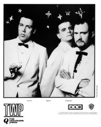 The Wolfgang Press - 1992 4AD/Warner US promotional photo for Queer: Mick Allen, Mark Cox, Andrew Gray.