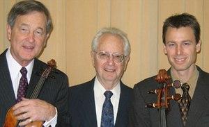 Oberlin Trio -  The Oberlin Trio, Dec. 2005 at East Carolina University: Stephen Clapp, violin; Joseph Schwartz, piano;  Darrett Adkins, cello