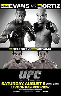 A poster or logo for UFC 133: Evans vs. Ortiz.