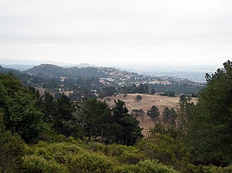 Oakland Hills, Oakland, California - Oakland Hills view as seen from Chabot Space and Science Center