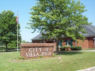 Villa Rica, Georgia - City Hall on Bankhead Highway