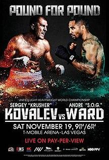 Sergey Kovalev vs. Andre Ward Boxing competition