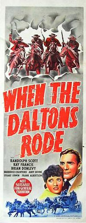 When the Daltons Rode - Theatrical release poster