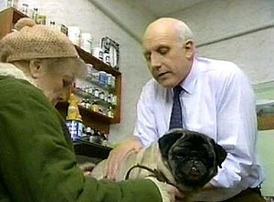 Willy (EastEnders) - Willy is examined at the vets, where he is later put down (1992).