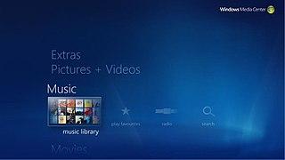 Windows Media Center software by Microsoft