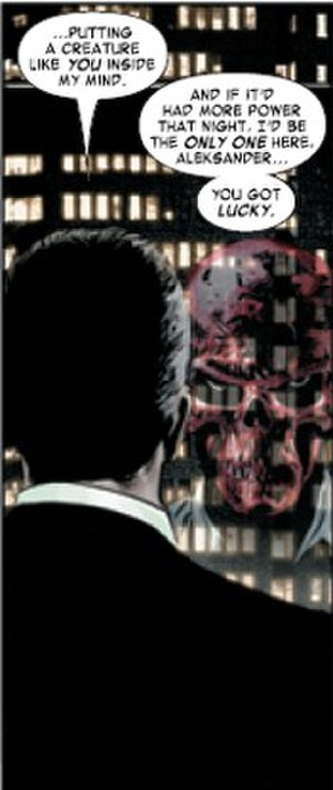 Red Skull - The Red Skull, in Alexander Lukin's mind. Art by Steve Epting.