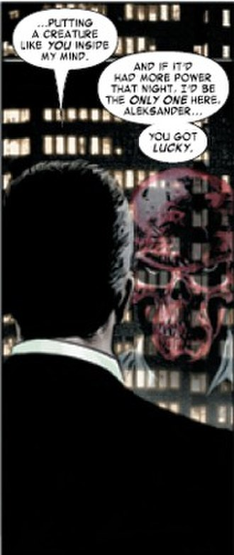 Red Skull - The Red Skull in Alexander Lukin's mind. Art by Steve Epting.