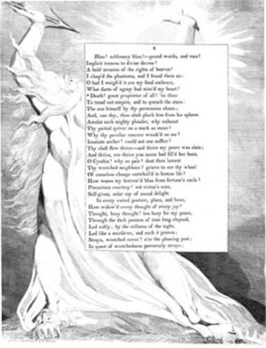 Night-Thoughts - A page from Night-Thoughts, illustrated by William Blake