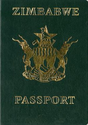 Zimbabwean passport - The front cover of a contemporary Zimbabwean passport.