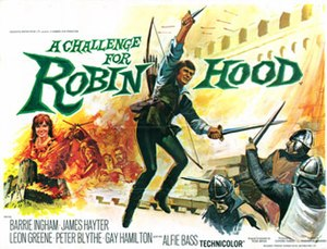 A Challenge for Robin Hood - UK quad poster by Tom Chantrell