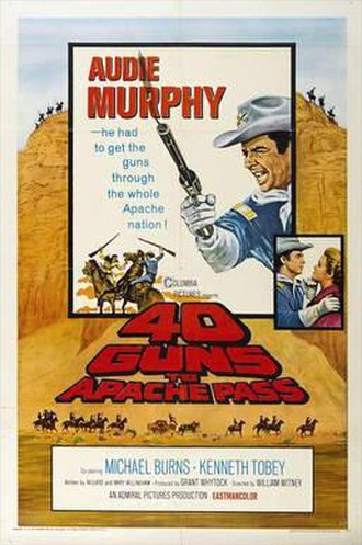 40 Guns to Apache Pass - Original film poster