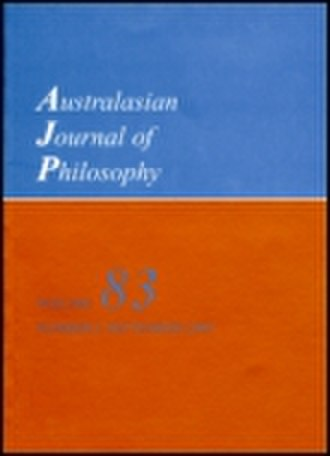 Australasian Journal of Philosophy - Image: AJP cover