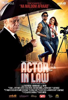 <i>Actor in Law</i> 2016 film by Nabeel Qureshi