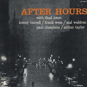 After Hours (Thad Jones album) - Image: After Hours (Thad Jones album)