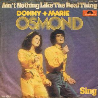 Ain't Nothing Like the Real Thing - A-side label of the U.S. vinyl single