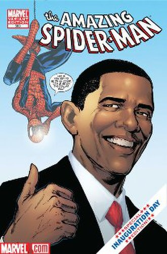 Barack Obama in comics - Image: Amazin Spiderman Obama