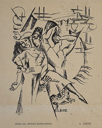 André Lhote - Image: André Lhote, 1913, Dessin pour L'escale, published in Montjoie, n.5, 14 April 1913