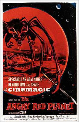 The Angry Red Planet - Theatrical release poster, 1959