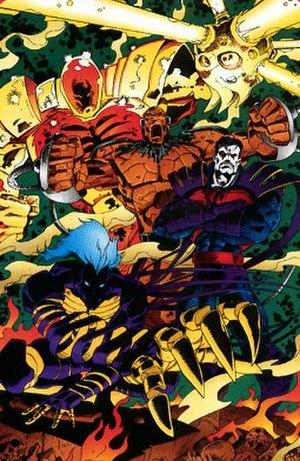 "Horsemen of Apocalypse - The Four Horsemen in the ""Age of Apocalypse""."