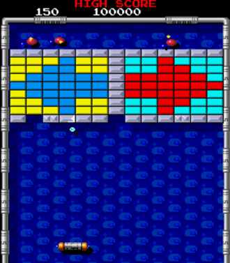 Arkanoid: Revenge of Doh - Gameplay as seen in the Arcade version of the game.