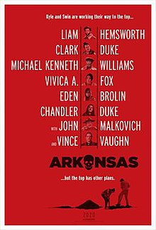 Arkansas 2020 USA Clark Duke Liam Hemsworth Vince Vaughn Clark Duke  Crime, Drama, Thriller