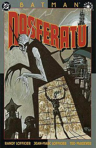 Batman: Nosferatu - Cover to Batman: Nosferatu. Art by Ted McKeever.