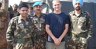 Rivers (Holidays in the danger zone) - Ben Anderson with Indian soldiers in Northern India