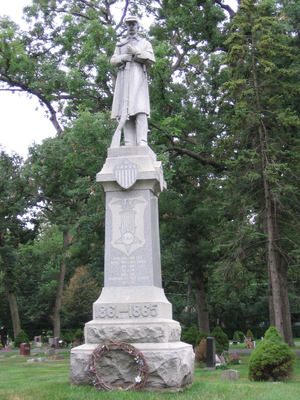 Park Ridge, Illinois - This Civil War memorial is located in Maine Cemetery at Dee Road and Touhy Avenue.