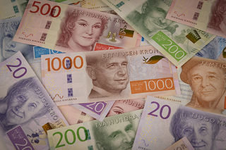 Swedish krona currency of Sweden