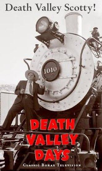 "Scott Special - Cover for the videotape of the ""Death Valley Days"" episode titled ""Death Valley Scotty!"""